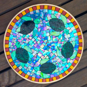 Blue Sea Turtle Platter
