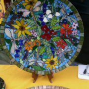 Garden and Dragonfly Platter 2