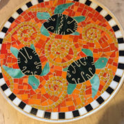 Orange Sea Turtle Platter Detail