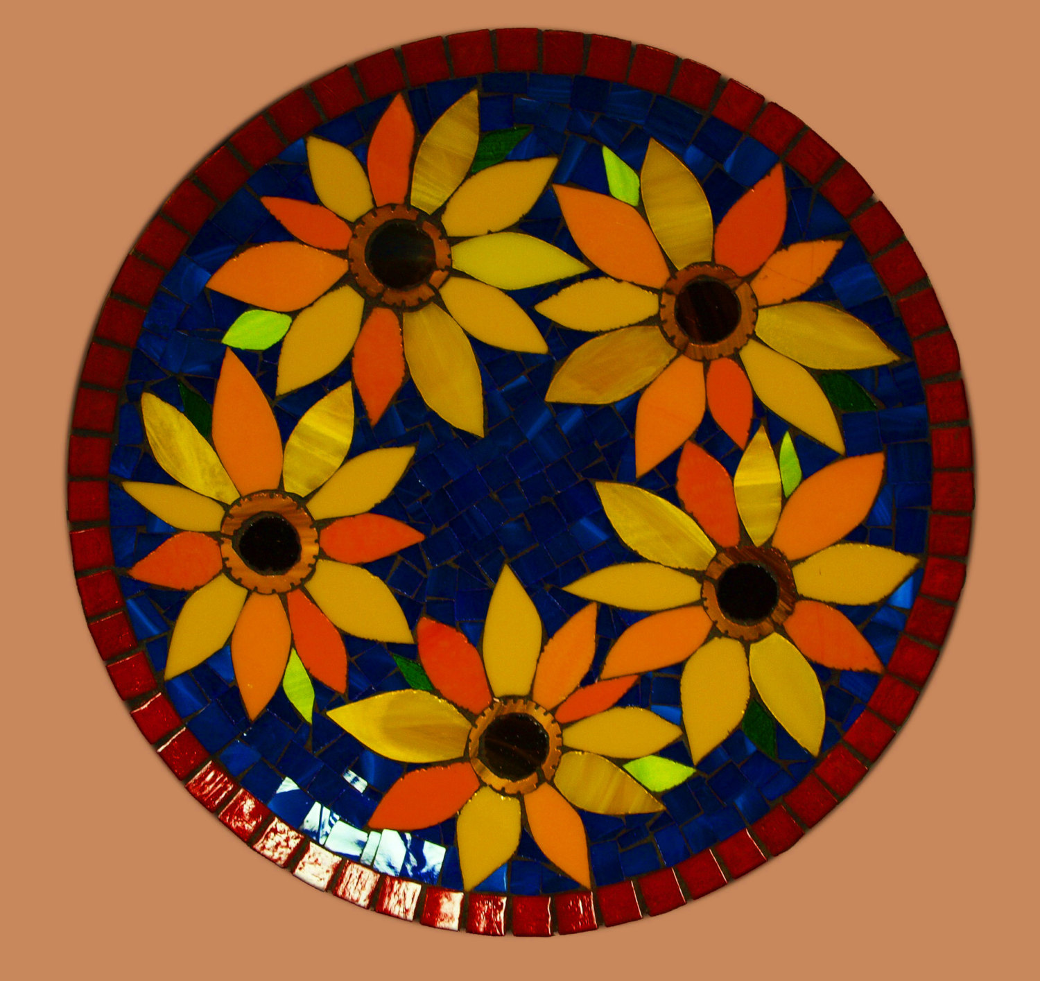 Van Gogh Sunflower Tribute Platter