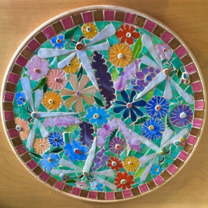 Wildflower and Dragonfly Platter