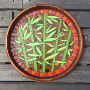Bamboo Platter on Acacia Wood